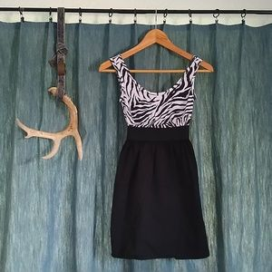Black & White Zebra Dress